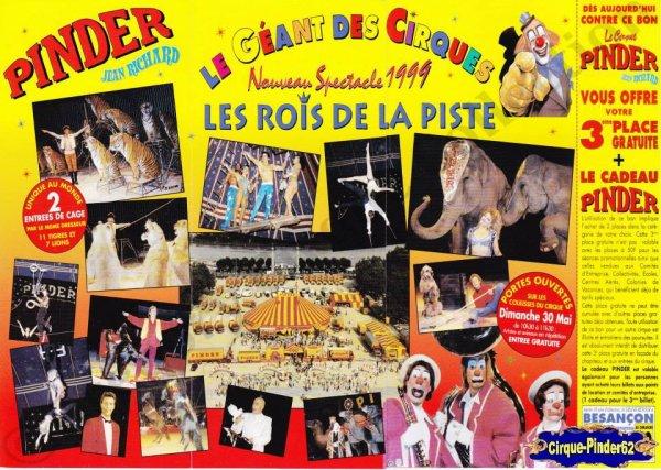 Flyer du Cirque Pinder-1999 (n°791)