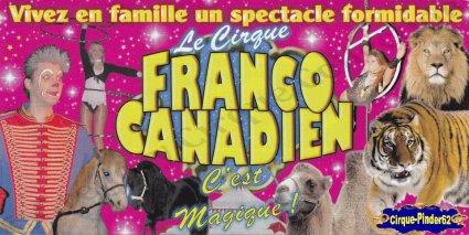 Flyer du Cirque Franco Canadien-2011 (n°812)