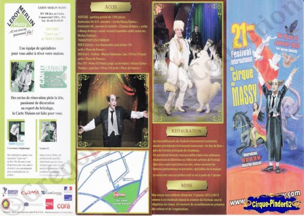 Flyer du Festival International du Cirque de Massy-2013 (n°818)