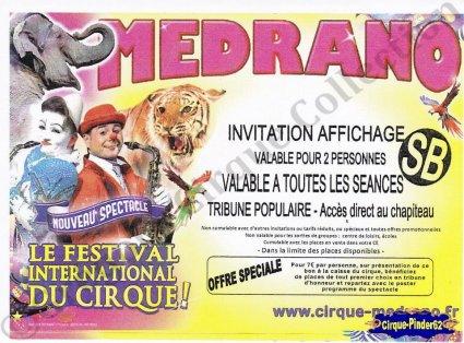 Flyer du Cirque Médrano (n°832)