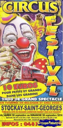 Flyer du Circus Festival-2014 (n°831)
