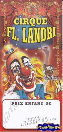 Flyer du Cirque Landri-2014 (n°841)