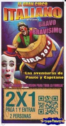 Flyer du El Gran Circo Italiano-2013/2014 (n°839)