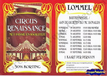 Flyer du Circus Renaissance-2014 (n°824)