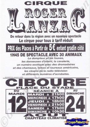 Flyer du Cirque Lanzac (Roger)-2014 (n°845)