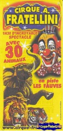 Flyer du Cirque Fratellini (Alain) (n°844)