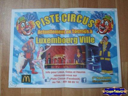 Publicité du Piste Circus-2014