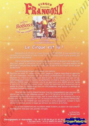 Feuille a4 du Cirque Franconi (Alexandra)