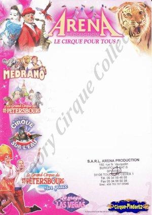 Feuille a4 de la Société Arena Production