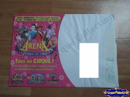 Enveloppe de la Société Arena Production