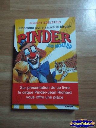 "Livre ""Gilbert Edelstein, L'Homme qui a sauvé le cirque Pinder Jean Richard""-2005"
