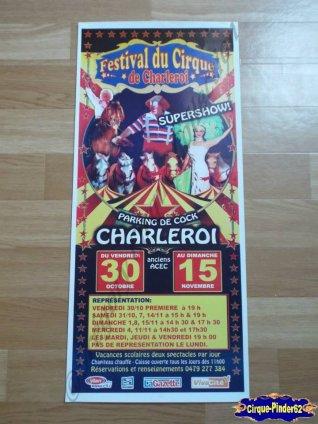 Affiche magasin du Festival du Cirque de Charleroi-2009 (n°427)
