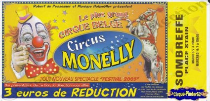 Flyer du Circus Monelly-2005 (n°875)