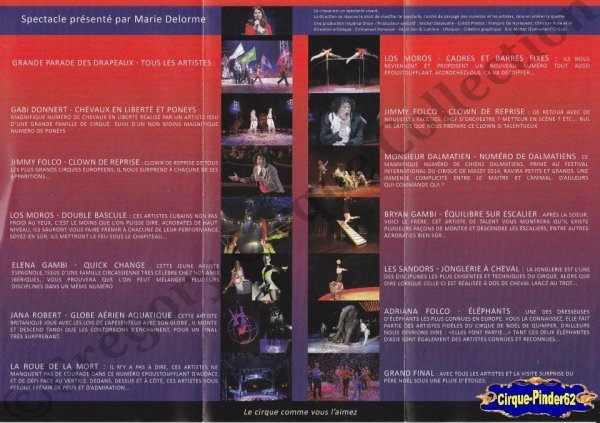 Flyer du Cirque de Noël (Cirque de Noël de Quimper)-2014 (n°880)
