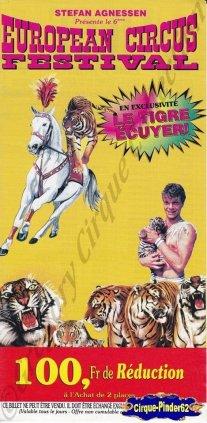 Flyer de l'European Circus Festival-1996/1997 (n°852)