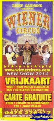 Flyer du Wiener Circus-2014 (n°862)