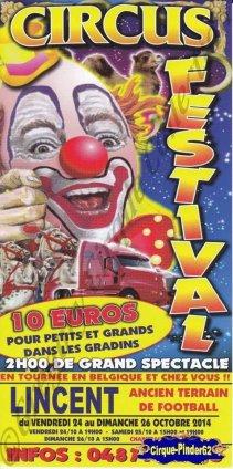 Flyer du Circus Festival-2014 (n°868)