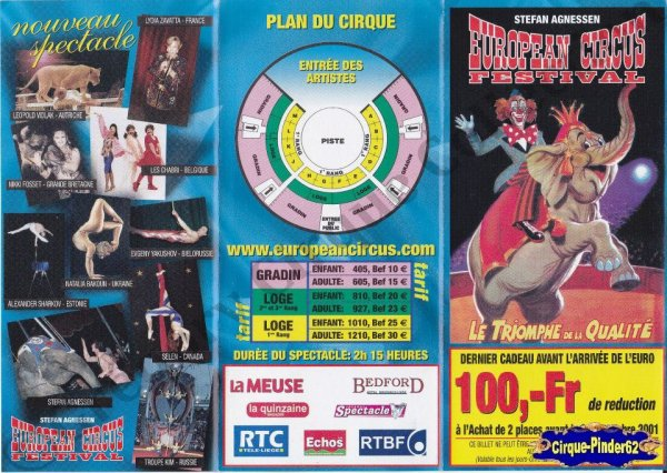 Flyer de l'European Circus Festival-2001/2002 (n°853)