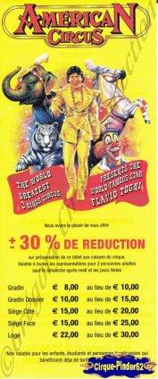 Flyer de l'American Circus-2003 (n°860)