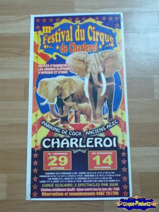 Affiche magasin du Festival du Cirque de Charleroi-2010 (n°428)