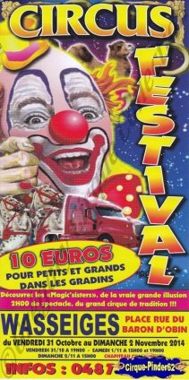 Flyer du Circus Festival-2014 (n°869)