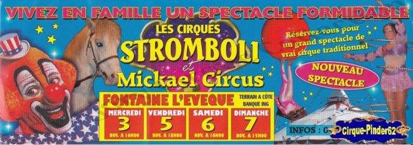 Flyer des Cirque Stromboli et Mickaël Circus (n°884)