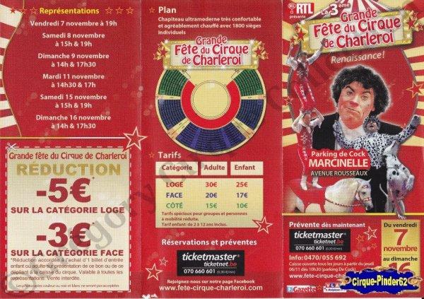Flyer de La Grande Fête du Cirque de Charleroi-2014 (n°878)