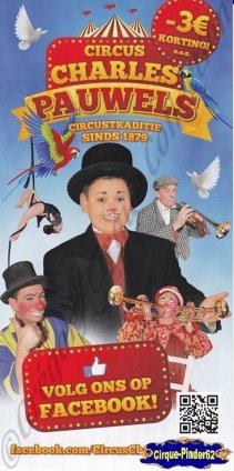 Flyer du Cirque Pauwels (Circus Charles Pauwels)-2014 (n°896)
