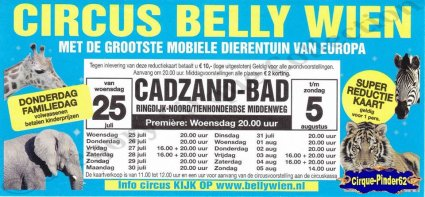 Flyer du Cirque Belly (Circus Belly Wien)-2012 (n°905)