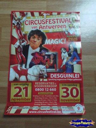 Affiche magasin du Festival du Cirque de Antwerpen-2014