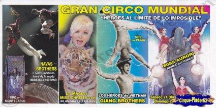 Flyer du Gran Circo Mundial-2012 (n°908)