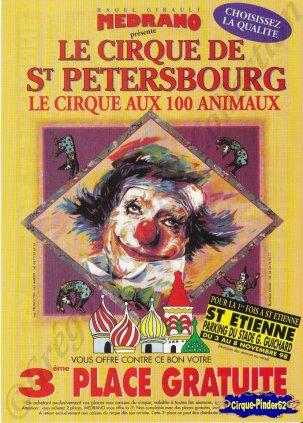 Flyer du Cirque Médrano-1998 (n°911)