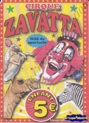 Flyer du Cirque Zavatta (n°940)