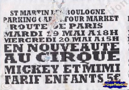 Flyer de l'International Circus-2015 (n°921)