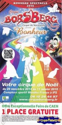 Flyer du Cirque Borsberg (Karl)-2014/2015 (n°927)