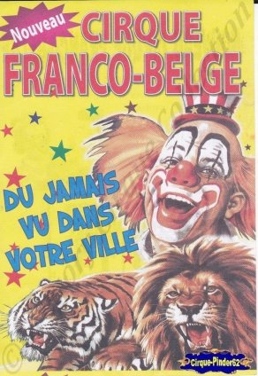 Flyer du Cirque Franco Belge-2013 (n°942)