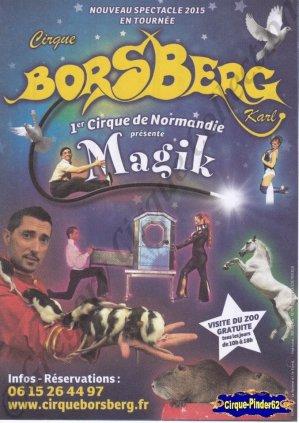 Flyer du Cirque Borsberg (Karl)-2015 (n°928)