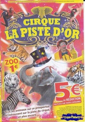 Flyer du Cirque La Piste d'Or (n°930)