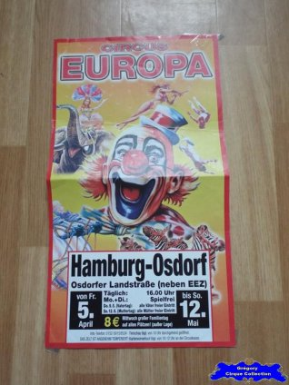 Affiche magasin du Cirque Europa (Circus Europa)-2013 (n°638)
