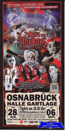 Flyer du Zirkus des Horrors-2015 (n°1319)