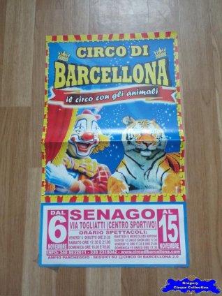 Affiche magasin du Circo di Barcellona-2015 (n°649)