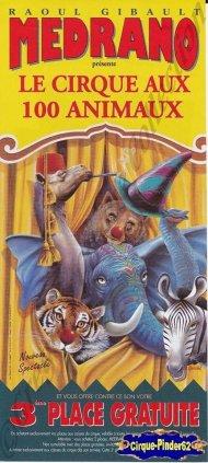 Flyer du Cirque Médrano-1999 (n°950)