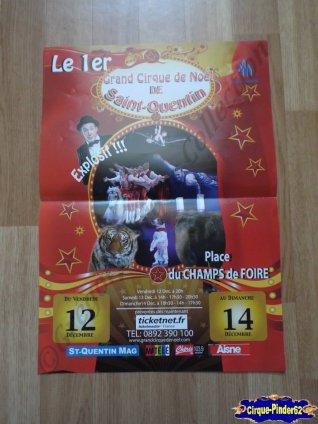 Affiche magasin du Cirque de Noël (Cirque de Noël de Saint Quentin)-2014 (n°488)