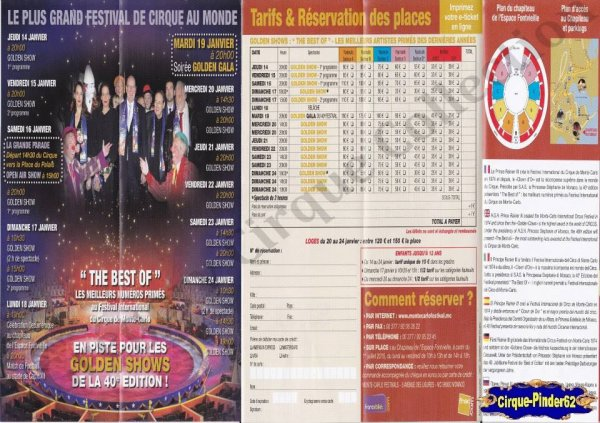 Flyer du Festival International du Cirque de Monté-Carlo-2016 (n°1020)