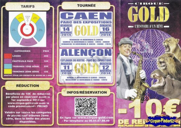 Flyer du Cirque Gold-2014 (n°1006)