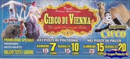 Flyer du Circo di Vienna-2015 (n°1016)
