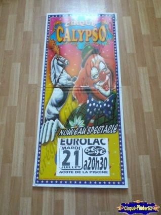 Affiche plastique du Cirque Calypso-2015 (n°486)