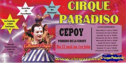 Flyer du Cirque Paradiso-2014 (n°999)