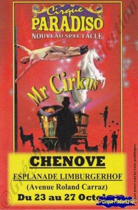 Flyer du Cirque Paradiso-2013 (n°998)