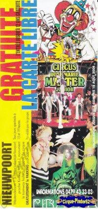 Flyer du Circus Rose-Marie Malter-2004 (n°972)